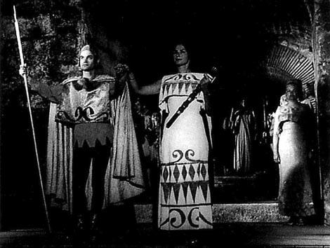 Albin Kokeza (Eneja) i Nada Puttar-Gold (Didona) – Henry Purcell, Didona i Eneja, Splitske ljetne priredbe, 1962.